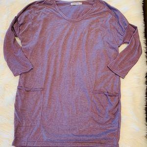 NWOT Long purple tunic shirt